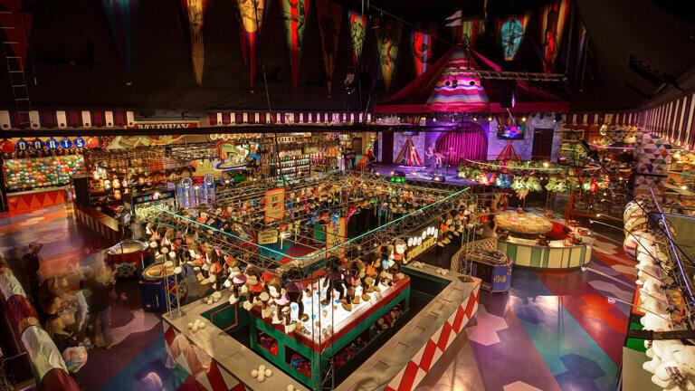 carnival midway at the Circus Circus Reno