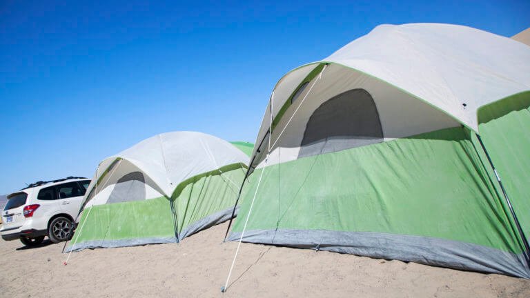 camping sand mountain