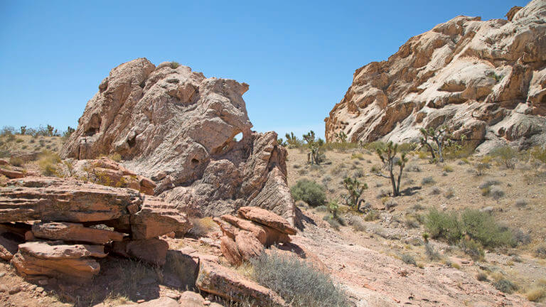 Rock formations Gold Butte Nevada
