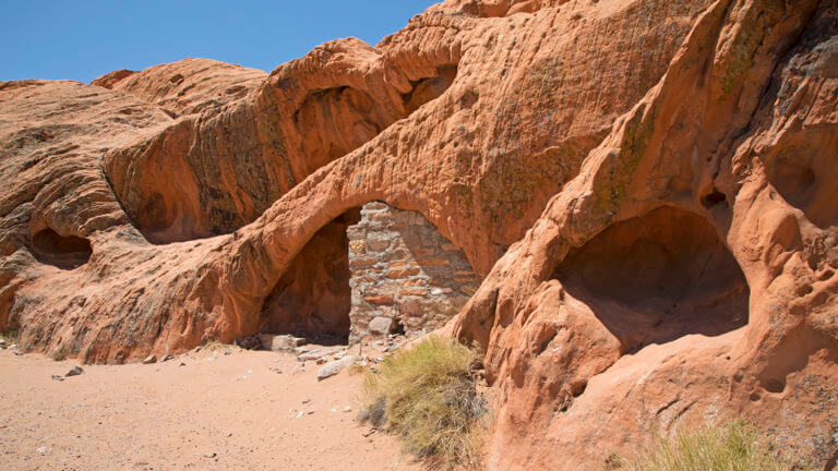 Red rock formations in Gold Butte