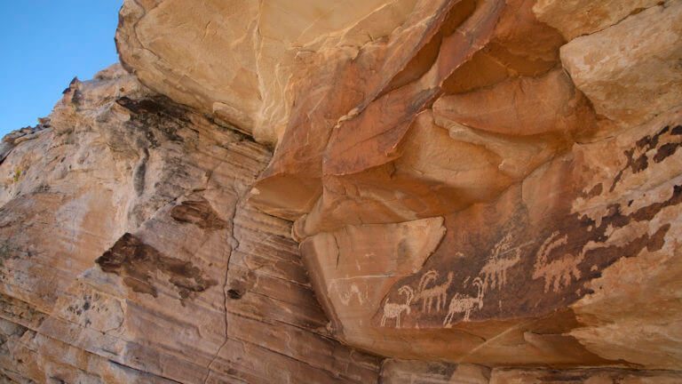 ancient rock art in Gold Butte
