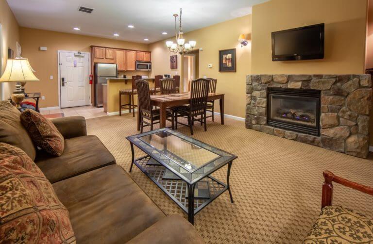 David Walley's Resort Room Living Area