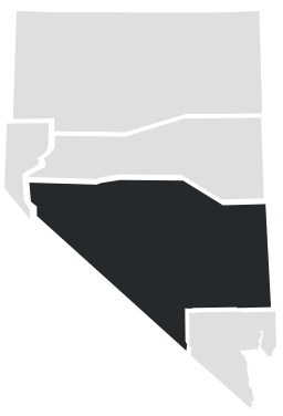 Central Nevada on a map