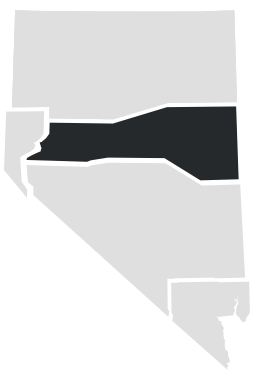 North Central Nevada on a map