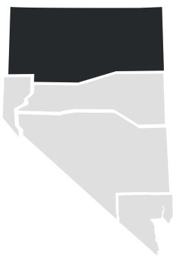 Northern Nevada on a map