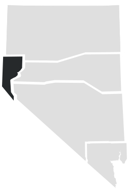 Northwest Nevada on a map