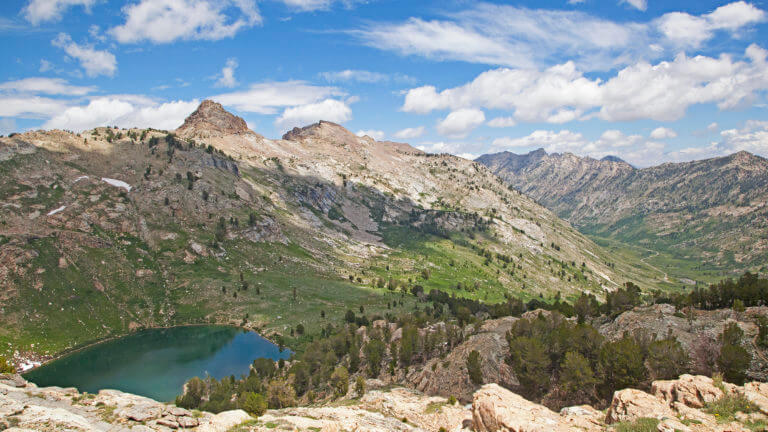 view of in lamoille canyon & ruby mountains