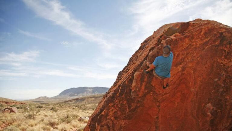 bouldering at red rock