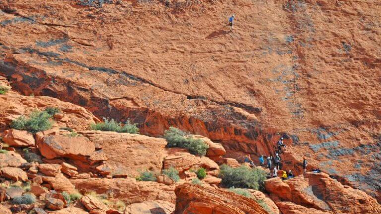 red rock hiking trails