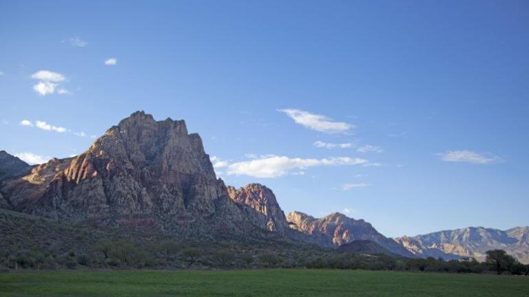 mountains at Spring Mountain Ranch