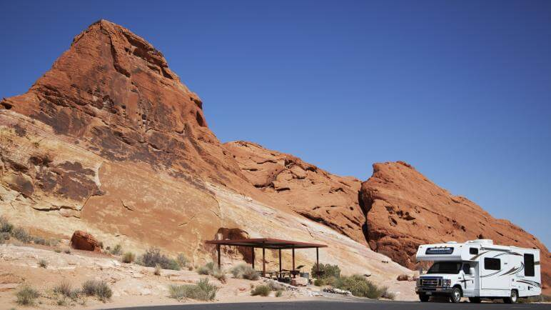 camping in valley of fire