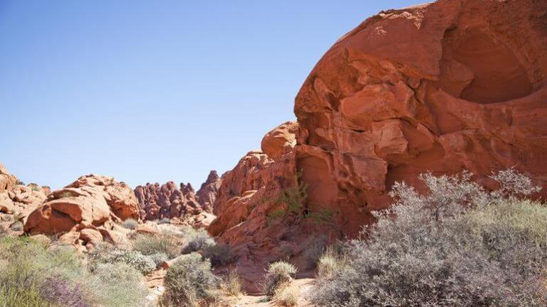 landscape in Valley of Fire State Park