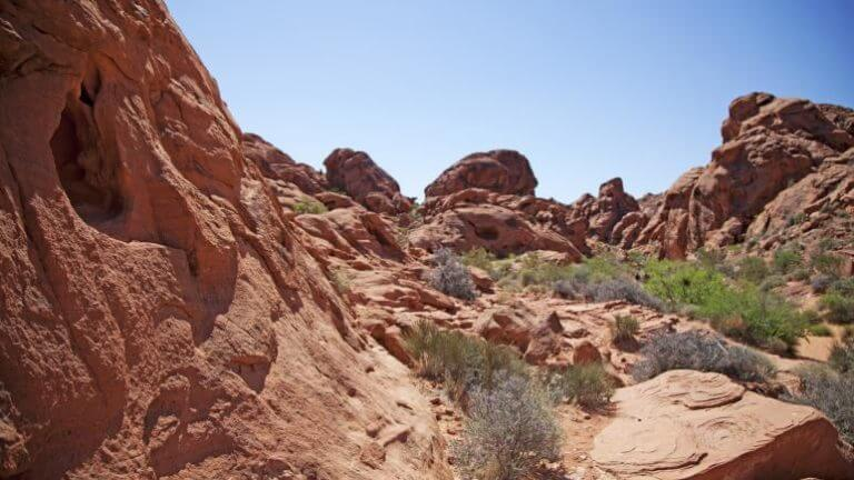 hiking trails in the Valley of Fire State Park