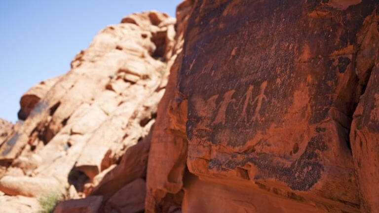 petroglyphs in Valley of Fire State Park