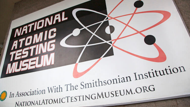 sign for national atomic testing museum