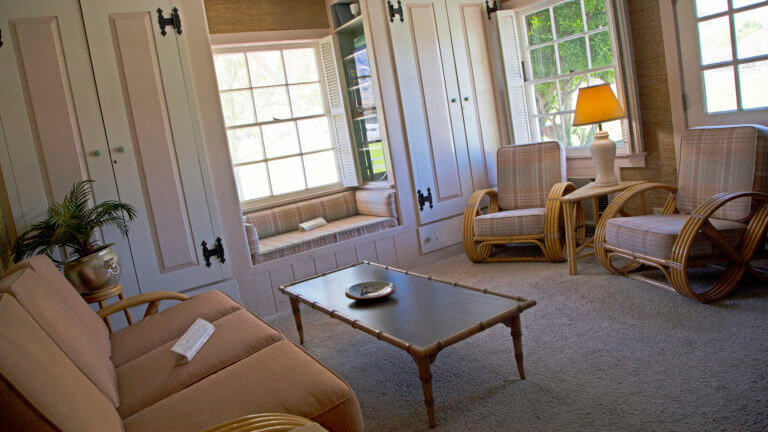 sitting room in the ranch house