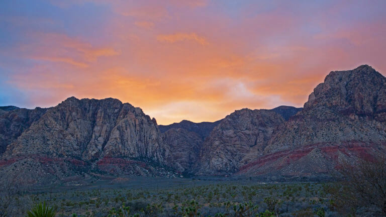 Sunset in Spring Mountain Ranch State Park