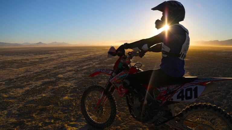 off roading on black rock desert playa
