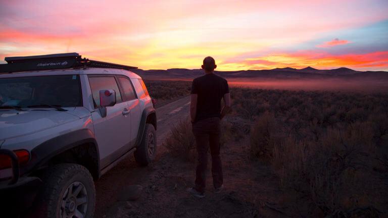 sunset black rock desert
