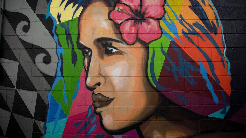 Wahine mural