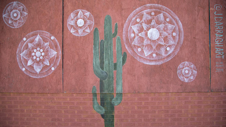 Saguaro mural