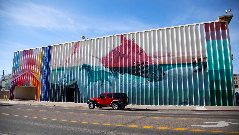 wild horse mural