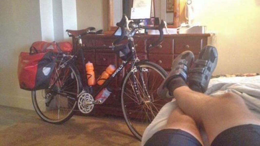hotel stay during the cycle across America.