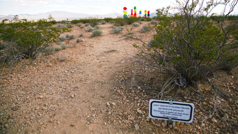 interpretive signage at seven magic mountains