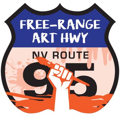 Free Range Art Highway Shield