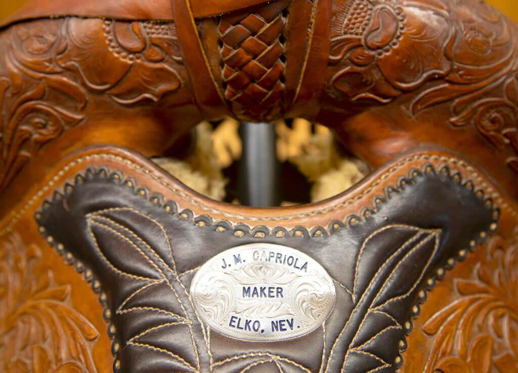 Capriolas, J.M. Capriolas Saddels, Custom leatherwork, leather tooling, nevada arts and culture, Nevada maker