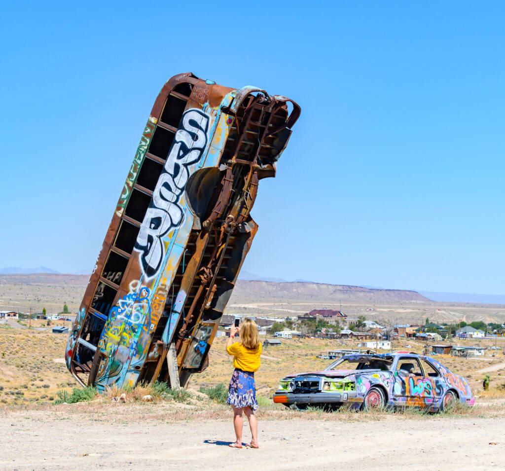 Car Forest, International Car Forest of the Last Church, Car Forest, Weird Nevada, Open Air Gallery