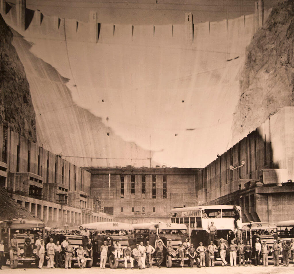 Hoover Dam Historical Image, Hoover Dam Construction