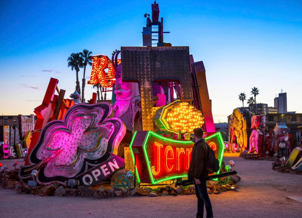 Weird Nevada, Neon Museum, Neon Nevada, eccentric attractions, neon
