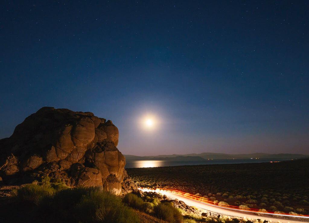 Night Driving, Pyramid Lake, Driving at Night, Driving Tips, Nevada Driving Tips