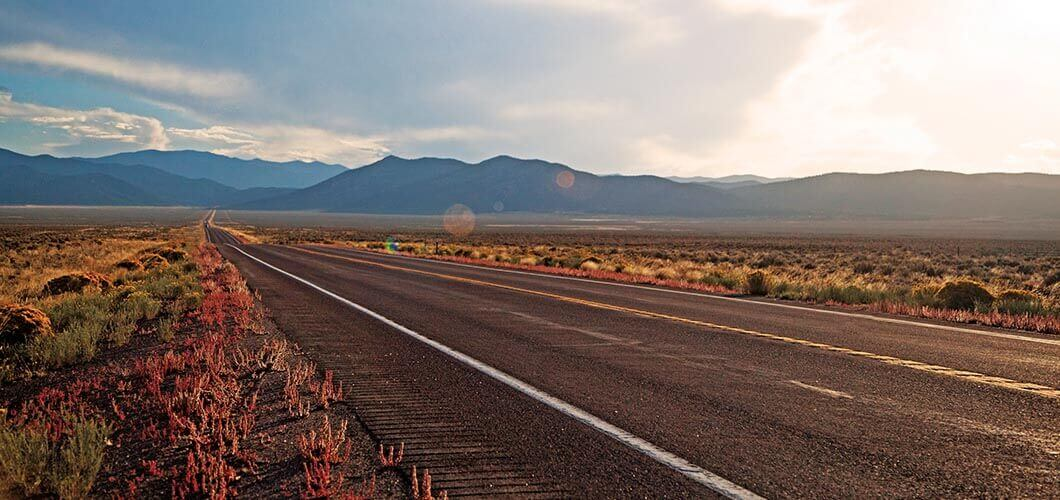 Highway in Nevada.