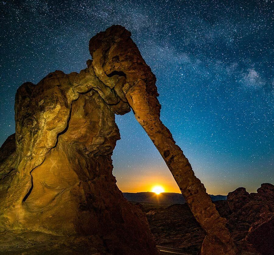 stargazing, night skies, Elephant Rock, Valley of Fire State Park