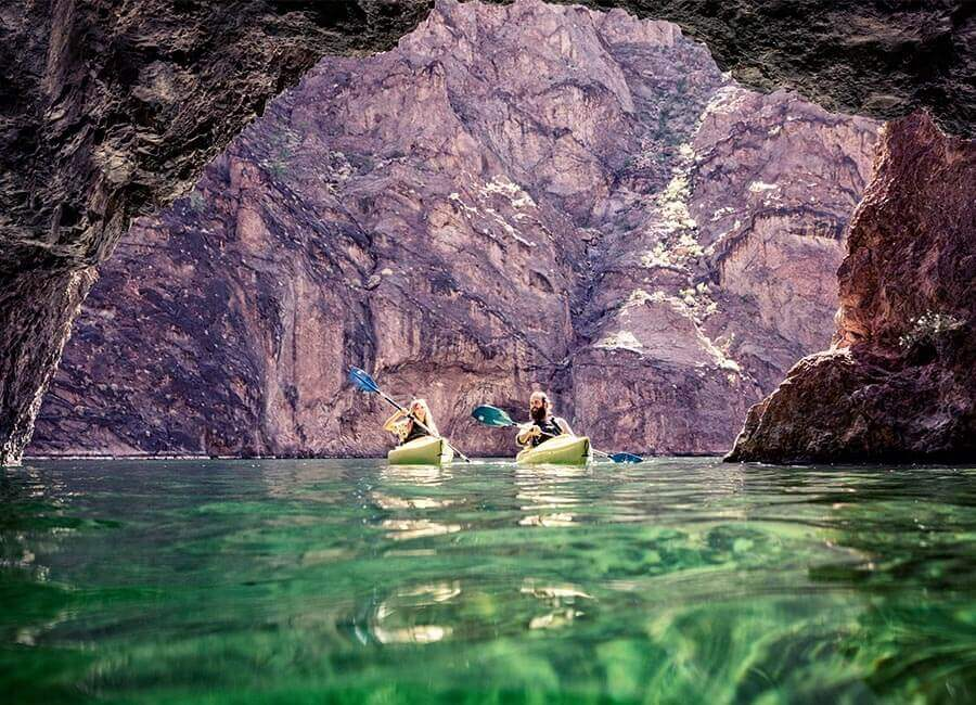 Kayaking, Black Canyon, Nevada Water Sports, water sports Nevada, Emerald Cove