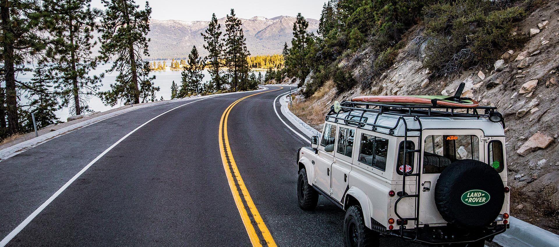 Driving at Lake Tahoe