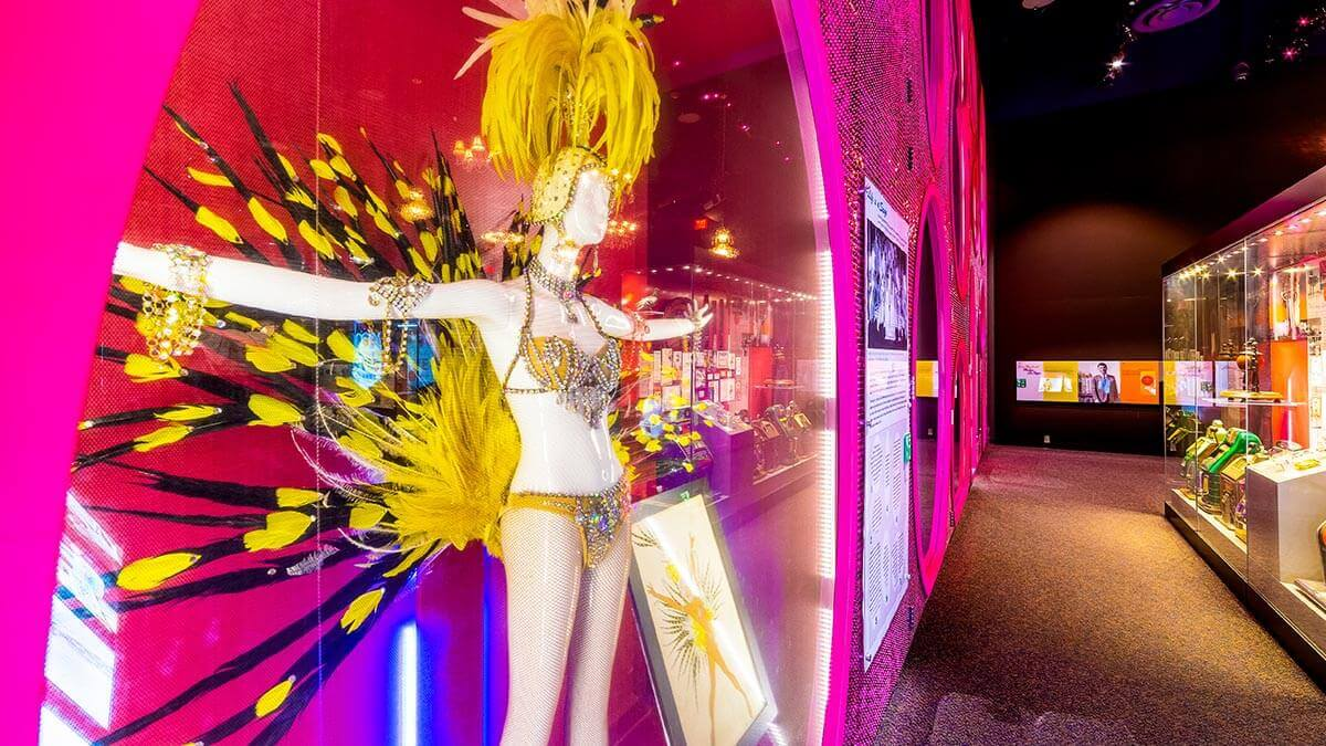 Showgirl wall at Nevada State Museum, Las Vegas