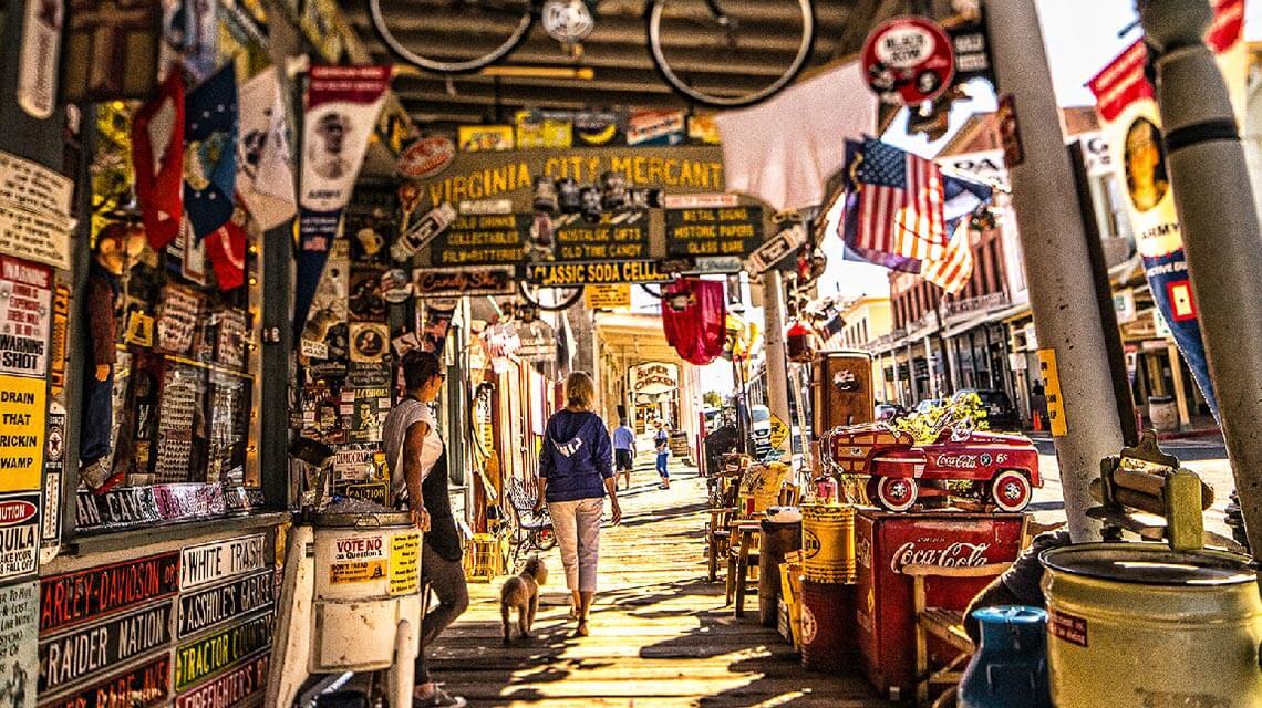 Virginia City Nevada Boardwalk