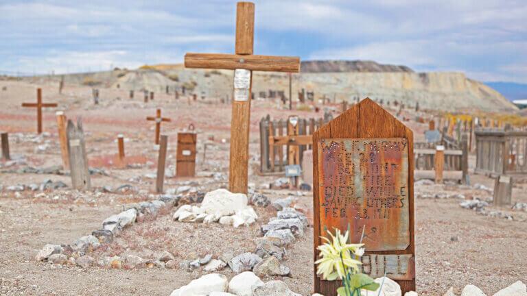 Historic tonopah cemetery