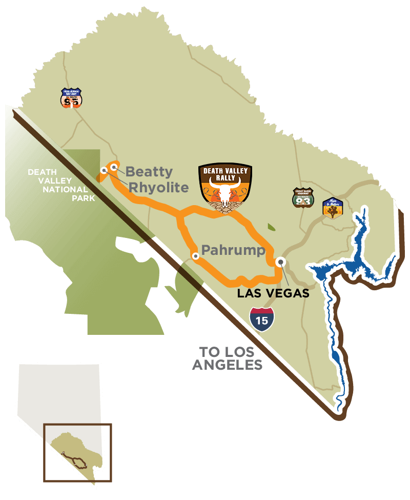 Death Valley Rally Map