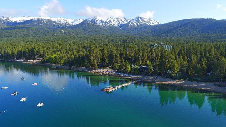 north lake tahoe aerial beach
