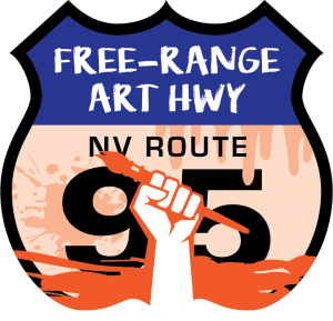 Free-Range Art Highway Shield