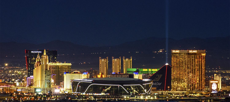 View of the stadium in Las Vegas